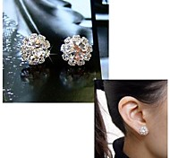 Hot Sales Sun Flower Zircon Earrings
