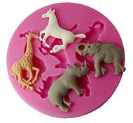 quatre c couleur fournitures cake 3d tasse moule en silicone de décoration rose