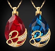 U7® Fancy Stone Pendant Necklace Rhinestone Swan 18K Real Gold Plated Necklace Fashion Jewelry for Women High Quality