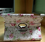 High Quality White Floral PU Protect Holster with 360 Degree Rotation for iPad mini/mini 2/mini 3