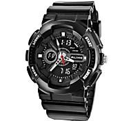 Relógio Esportivo (LED/Calendário/Resistente à Água/Dois Fusos Horários) - Digital - Quartz
