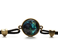 Vilam® Flannelette Bracelet Green Star Sky Cabochon Time Gem Charm Bracelets Daily 1pc