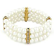 moda temperamento pulseira de pérolas de diamantes