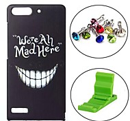 Happy Face Pattern PC Hard Case with Anti-dust Plug and Stand for Huawei G6