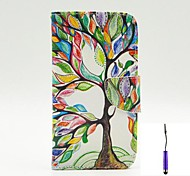 The Tree of Life Pattern PU Leather Case Cover with A Touch Pen ,Stand and Card Holder for LG G3
