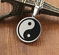 Stainless Steel Gossip to Ward off Bad Luck and Chinese Tai Chi Necklace