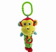Babyfans ™ Stuffed Cartoon Animal Cute Monkey Baby Soft Rattle Toys