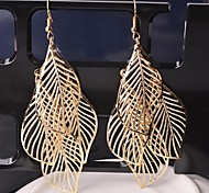 2015 All-Match Retro Fashion India Baroque Simple Hollow Leaves Lady Earrings