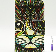 Persian Cat Pattern PU Leather Case Cover with A Touch Pen ,Stand and Card Holder for Nokia Lumia 530