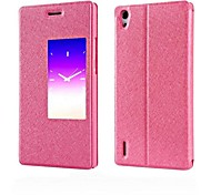 Dormant Window Silk Grain Cell Phone Holster for HuaWei P7 (Assorted Colors)
