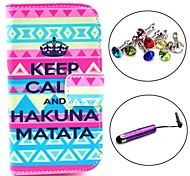 Keep Calm Pattern PU Leather Case with Stylus and Dust Plug for Samsung Galaxy Trend Lite S7390/S7392