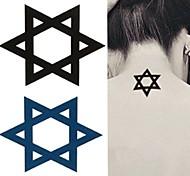Hexagram Six-pointed Star Tattoo Stickers Temporary Tattoos(1 Pc)