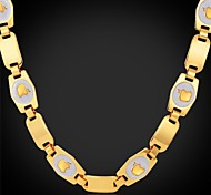 U7® 18K Yellow Gold Plated High Quality Apple Charms Choker Necklace Fashion Jelwelry for Girls