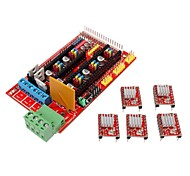 3D Printer Controller RAMPS 1.4 Shield Board + 5 x 4988 Stepper Drivers for 3D Printer