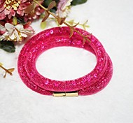 Fashion Multilayer   Drill Magnet  Handmade Bracelet