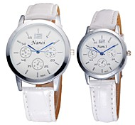 Couple's Lovers' Lower Price Good Quality Bracelet Watch Quartz Analog Bohemian PU Leather 2pcs/pair