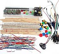 kit básico genérico partes pacote placa de ensaio fonte de alimentação para arduino