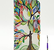 The Tree of Life Pattern PU Leather Case Cover with A Touch Pen ,Stand and Card Holder for iPhone 5C