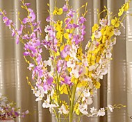 "37""L Set of 1 Flying Phalaenopsis Silk Cloth Flowers"