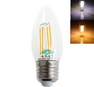 Zweihnder E27 4W 380LM 5500-6000/3000-3500K LED White Light Warm White Candle Light Bulb(AC 220-240V)