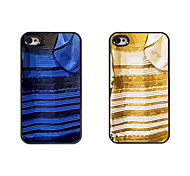 Blue and Black&White and Gold Dress Design Metal Case for iPhone 4/4S