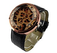 Women's Charm Watch Quartz Analog Leopard Print PU Leather Dress Casual Wristwatches Cool Watches Unique Watches