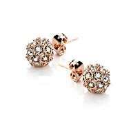 Lucky Ball Crystal 18K Rose Gold Plated Earrings Jewelry Made with Austrian Crystal