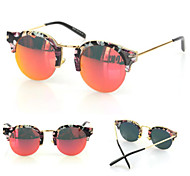 Sunglasses Women's Modern / Fashion Cat-eye Black / White / Yellow / Gold / Red / Blue / Green Sunglasses Half-Rim