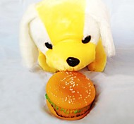 Squeaking Hamburger Chewing Toy for pets Dog