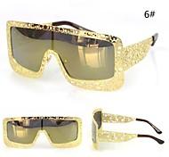 Sunglasses Men's Modern / Fashion Oversized Black / Coffee / Yellow / Blue / Green Sunglasses Full-Rim