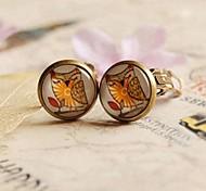 Owl Clip Earrings