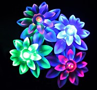 20 lâmpada com série de lâmpada solar de lótus (cores sortidas)