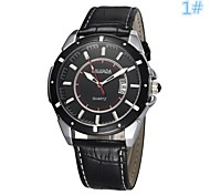 Men's Women's Unisex Dress Watch Quartz Analog Calendar/Water Resistant Individual Dial Black/Brown