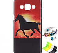 Broncos Pattern Back Case and Anti-dust Plug and Stand for Samsung Galaxy A5