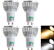 4 Stück Zweihnder Dekorativ LED Spot Lampen S19 GU10 3W 280 LM 3000-3500/6000-6500 K 3 Dip LED Warmes Weiß / Kühles Weiß AC 100-240 V