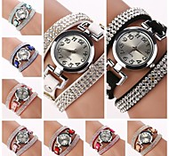 orologio rotondo quadrante diamante del quarzo della fascia del circuito femminile (colori assortiti) c&d184