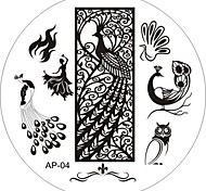 Nail Art Stamp Stamping Image Template Plate AP Series NO.4