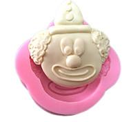 Fondant de clown argile de silicone en forme de moule silicone gâteau moule