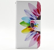 Beautiful Petals Pattern PU Leather Full Body Case with Stand and Card Holder for Samsung Galaxy S6