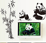 Environmental Removable Panda Pattern PVC Tags & Sticker