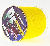 300M / 330 Yards PE Braided Line / Dyneema / Superline Fishing Line yellow shad 28LB / 25LB / 20LB / 18LB / 10LB / 8LB