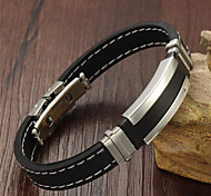 Silicone Titanium Steel Bracelet Fashion and Personality