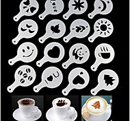 16pcs пластиковый фантазии приготовления кофе моделью печати минималистский дизайн от пыли площадка