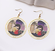 Fashion Alloy Picture Drop Earrings