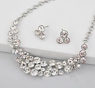 Wedding Bridal Earring Necklace Jewelry set With Rhinestone/Crystal Vintage