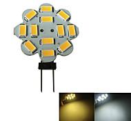 JIAWEN® G4 3W 12x5730SMD 250-270LM 3000-3200K/6000-6500K Warm White/White Torx Shaped Light LED Spot Bulb  (AC/DC10-30V)