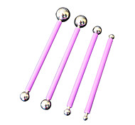FOUR-C Steel Ball Tools Cake Modeling Tools Cake Tools Color Purple,4/Set
