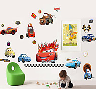 Wall Stickers Wall Decals, Cartoon Cars Group PVC Wall Stickers