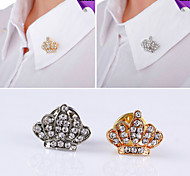 Korean Decorative Small Crown Diamond Brooch