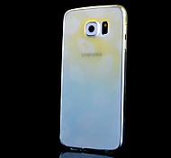 labbra modello sottile trasparente cambiamento graduale stampato cassa fredda tpu telefono per la galassia S6 (colori assortiti)